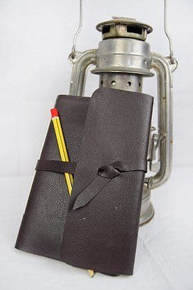 Black Traveller Journal Notebook - faux leather