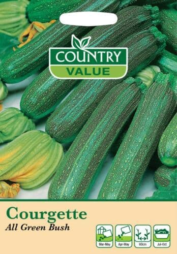 Courgette All Green Bush Vegetable Seeds (15)
