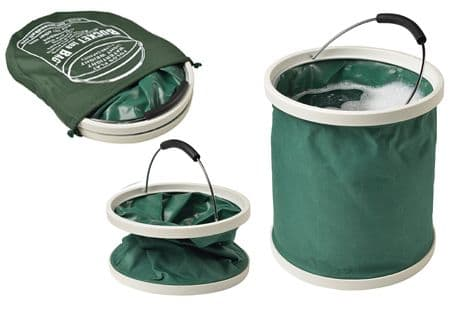 Green Bucket in a bag - folds down flat for easy storage