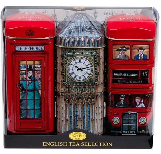 Traditional English Tea London Collection 3 tins
