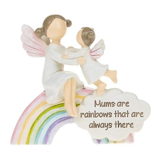 Angel Rainbow Ornament - Mum's Always There