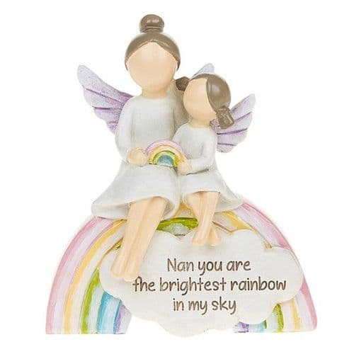 Angel Rainbow Ornament - Nan