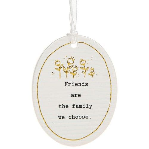 Cherished Thoughts - Ceramic Oval - Friends/Family (470)