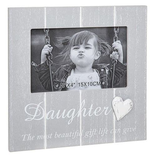 Cool Grey Frame 4 x 6 - Daughter (343)