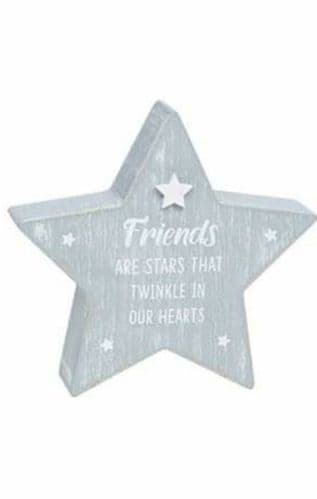 Cool Grey Standing Star - Friends Are Stars That Twinkle (902)