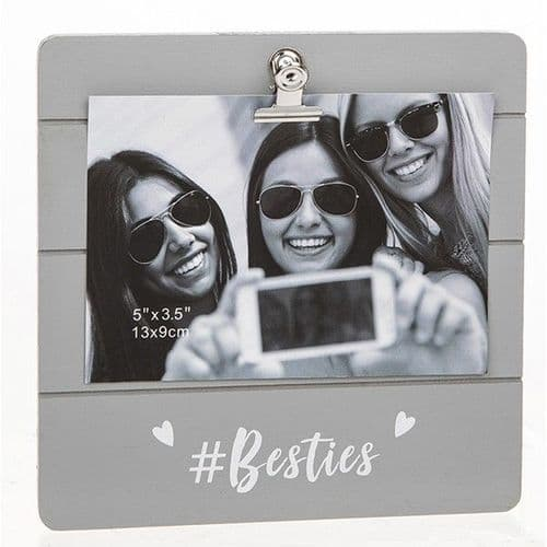 Cute Grey Clip Frame - #Besties (935)
