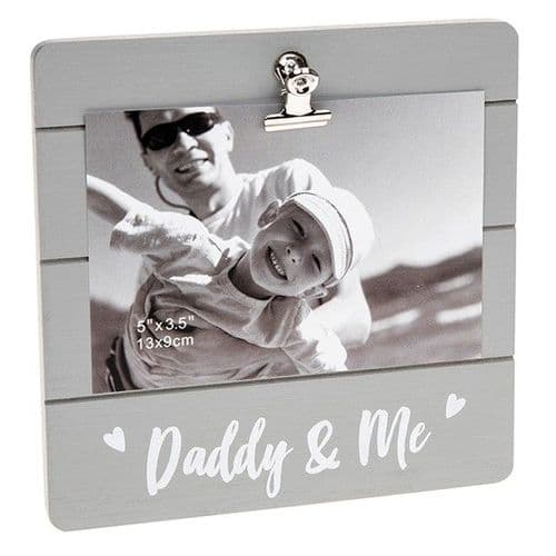 Cute Grey Clip Frame - Daddy & Me (023)