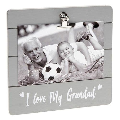 Cute Grey Clip Frame - I Love My Grandad (039)