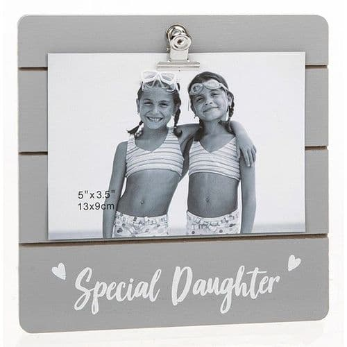 Cute Grey Clip Frame - Special Daughter (934)