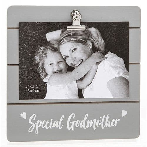 Cute Grey Clip Frame - Special Godmother (936)
