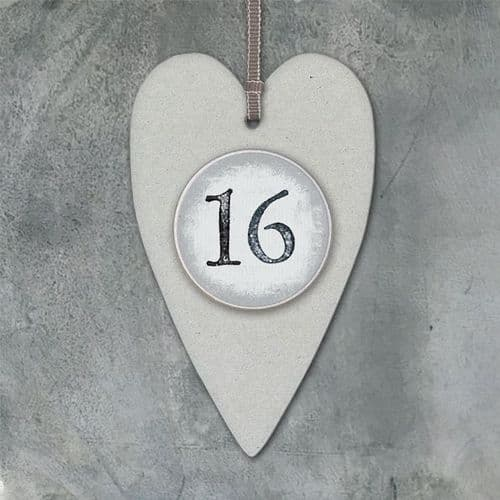 East Of India - Card Number Tag - 16