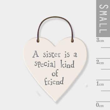 East Of India - Mini Heart Token - A Sister Is (2837)