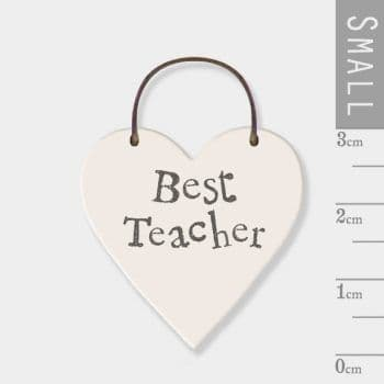 East Of India - Mini Heart Token - Best Teacher