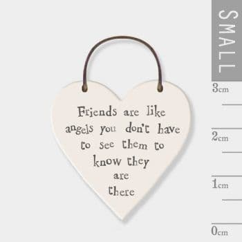 East Of India - mini heart token- Friends are like angels (2833)
