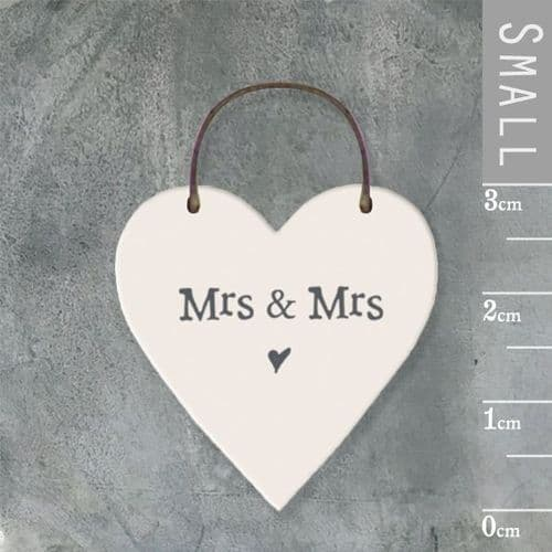 East Of India - Mini Heart Token -Mrs & Mrs 2887