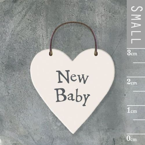 East Of India - Mini Heart Token -New Baby 2858