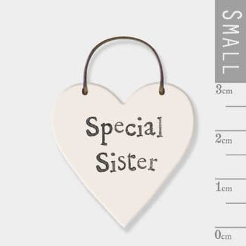 East Of India - Mini Heart Token - Special Sister (2870)