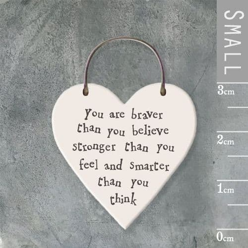 East Of India - Mini Heart Token - You Are Braver 2857