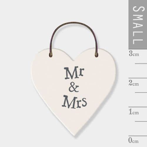 East of India - Mini Token Heart - Mr & Mrs (2823)