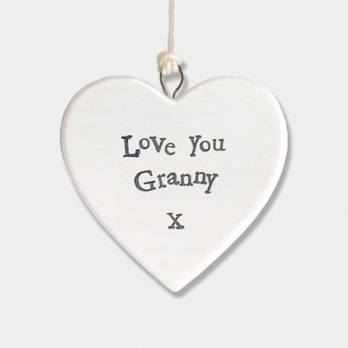 East Of India - Porcelain Heart - Love You Granny