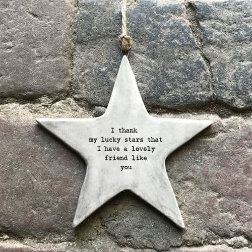 East Of India - Rustic Hanging Star - Star Friend (7425)