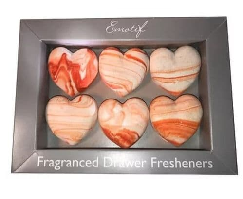 Emotif - Fragranced Fresheners Hearts - Citrus