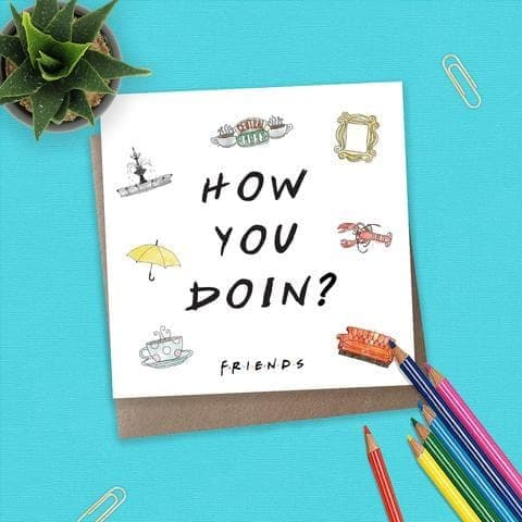 Friends - TV Series - Card - How You Doin?