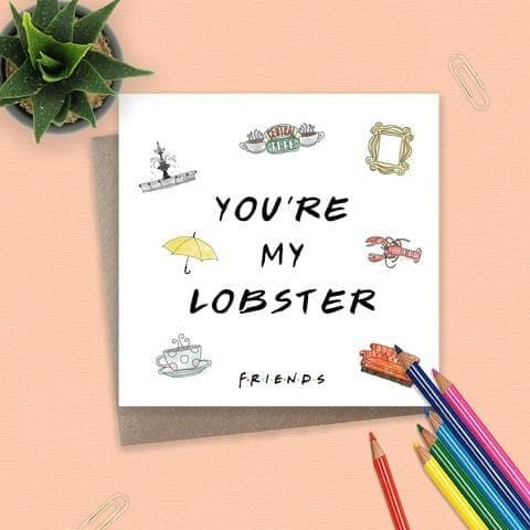 Friends - TV Series - Card - Lobster
