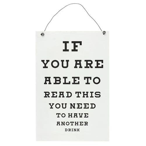 Garden Bar Eye Chart - If You Can Read This Sign