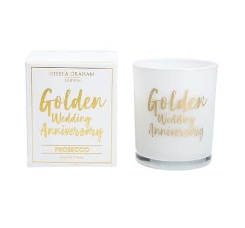 Gisela  Graham - Mini Scented Candle - Golden Anniversary (50983)