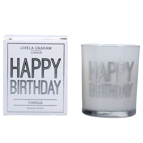Gisela Graham - Mini Scented Candle - Happy Birthday (50869)