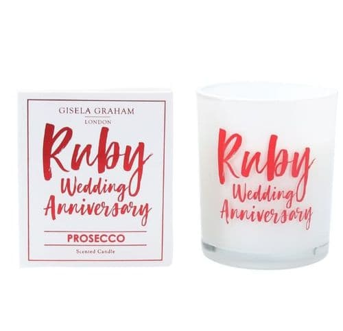 Gisela Graham - Mini Scented Candle - Ruby Anniversary (50982)