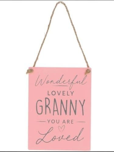 Gisela Graham - Wooden Hanging Dec - Granny (38523)