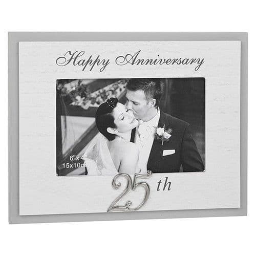 Grey Modern Anniversary Frame - 25th (296955)