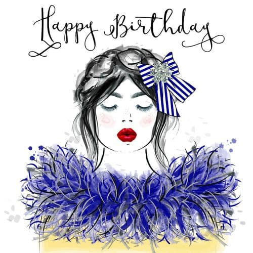 Handcrafted - Beau Couture - Happy Birthday Card
