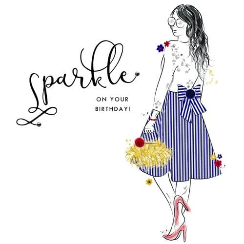 Handcrafted - Beau Couture - Sparkle On Your Birthday Card