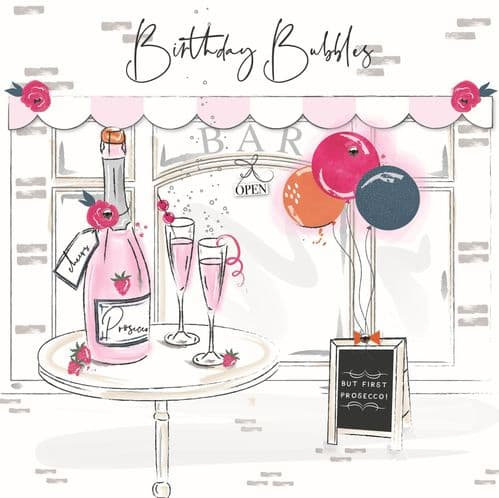 Handcrafted - Eaton Square - Birthday Bubbles Card
