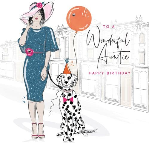 Handcrafted - Eaton Square - Happy Birthday Auntie Card