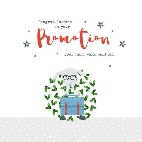 Handcrafted - Ewe & Me - Congratulations On Your Promotion Card