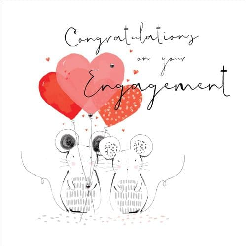 Handcrafted - Hedgerow - Congratulations On Your Engagement - Card