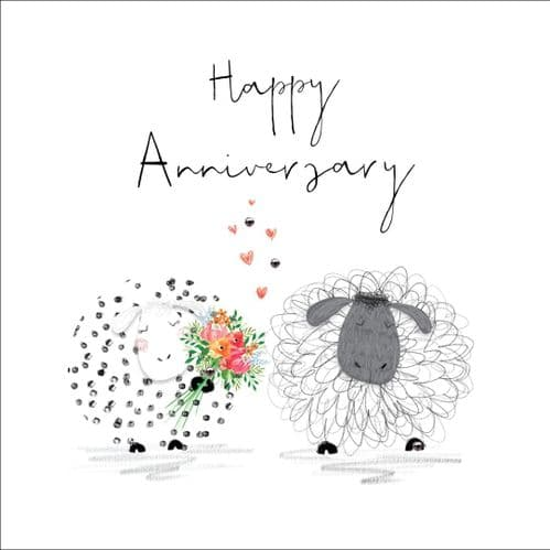 Handcrafted - Hedgerow - Happy Anniversary - Card