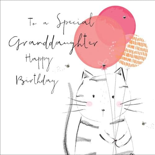 Handcrafted - Hedgerow - Happy Birthday Granddaughter - Card