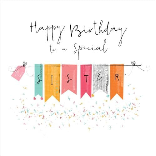 Handcrafted - Hedgerow - Happy Birthday Special Sister - Card