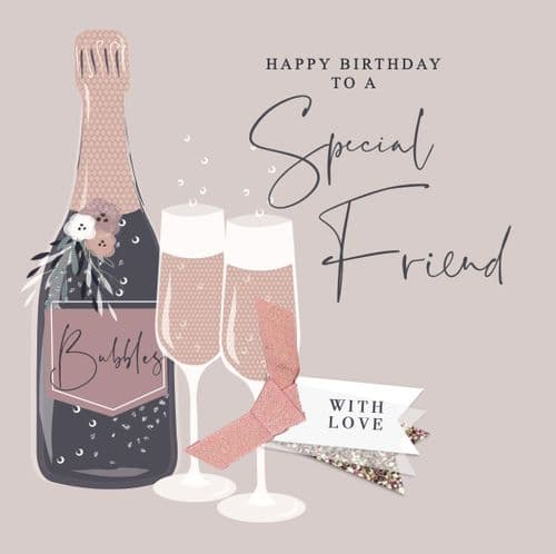 Handcrafted - Imogen - Happy Birthday Special Friend Card