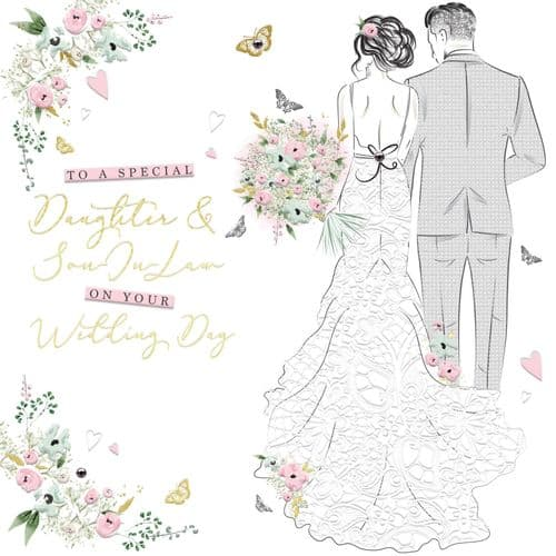 Handcrafted - Wedding Belles - Daughter & Son In Law Card