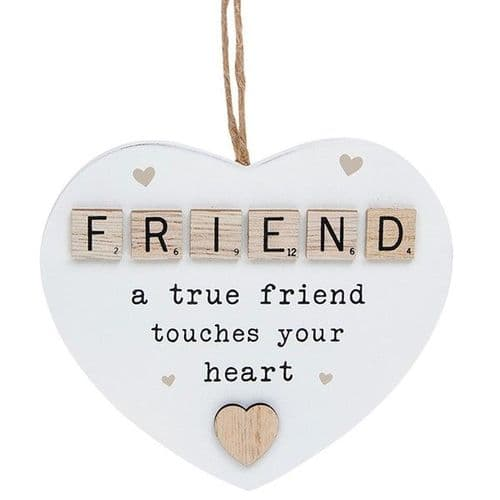 Hanging Scrabble Heart - Friend (875)