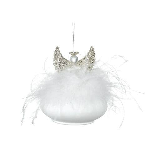 Heaven Sends - Glass Angel With Feather Detail