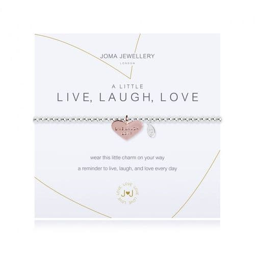 Joma Jewellery - A Little Live Laugh Love Bracelet
