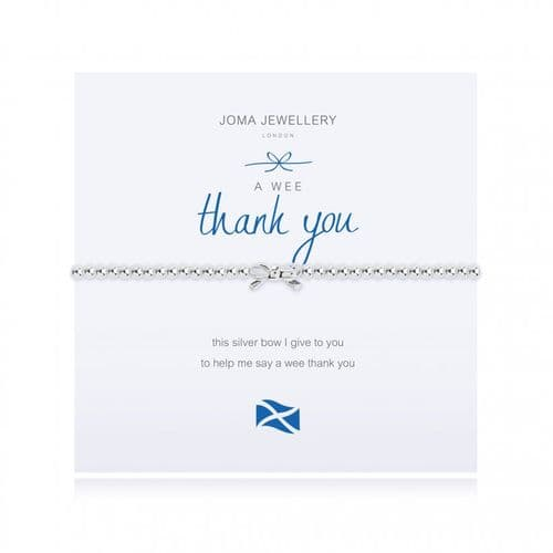 Joma Jewellery - A Wee Thank You Bracelet