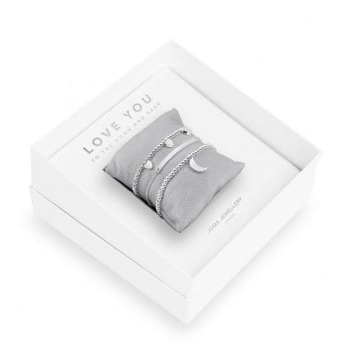 Joma Jewellery - Gift Box - Love You To The Moon & Back - Trio Of Bracelets